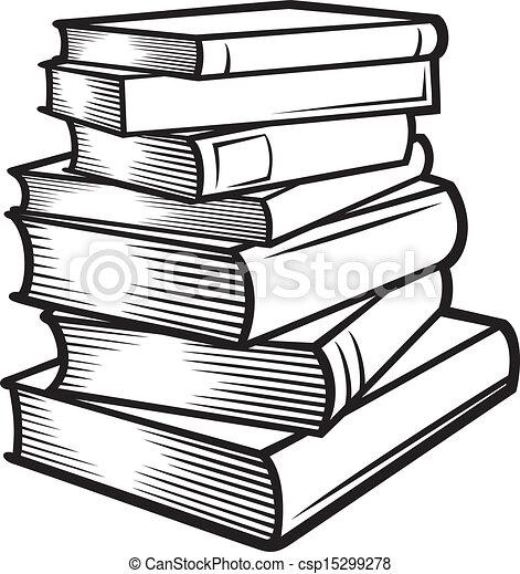Un montón de libros. - csp15299278