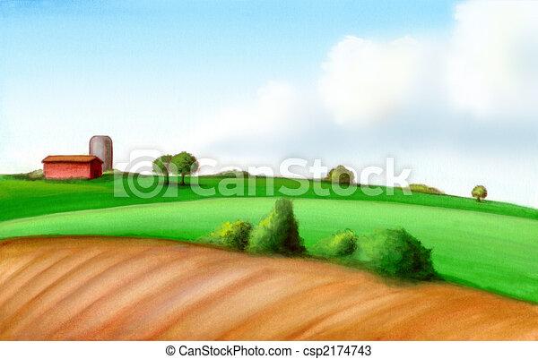 Un paisaje agrícola - csp2174743