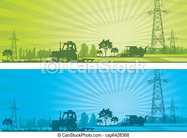 Un paisaje agrícola - csp6428368