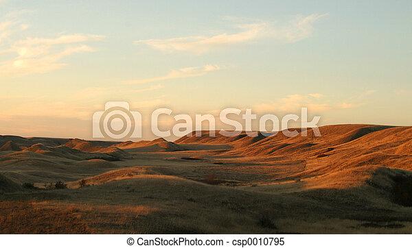 Un paisaje Praire - csp0010795
