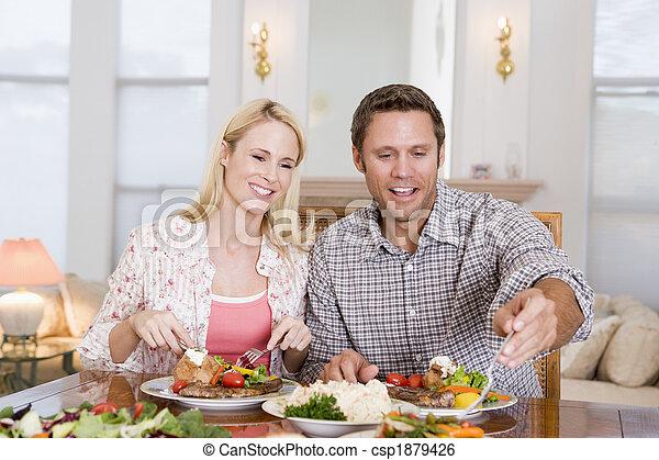 Un par de comidas, comida juntos - csp1879426