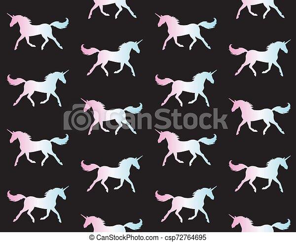 Un patrón de unicornio holográfico - csp72764695