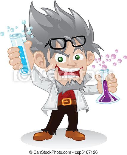 Un personaje científico loco - csp5167126