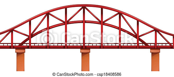 Un puente rojo - csp18408586