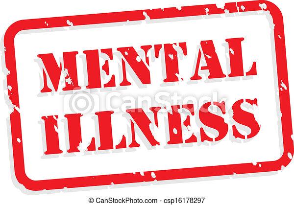 Un sello de goma de la enfermedad mental - csp16178297