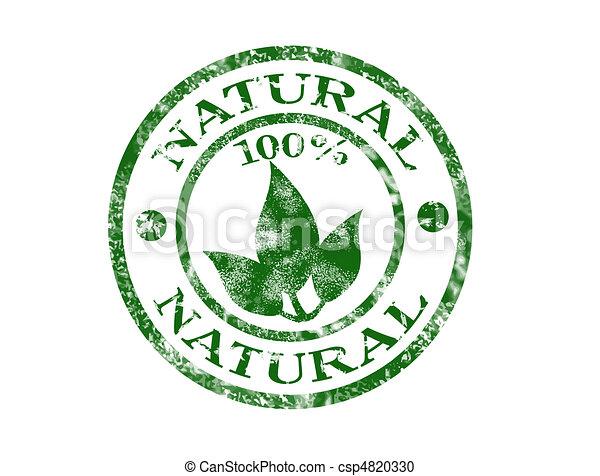 Un sello natural - csp4820330