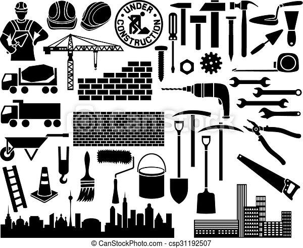 Un set de icono de construcción - csp31192507