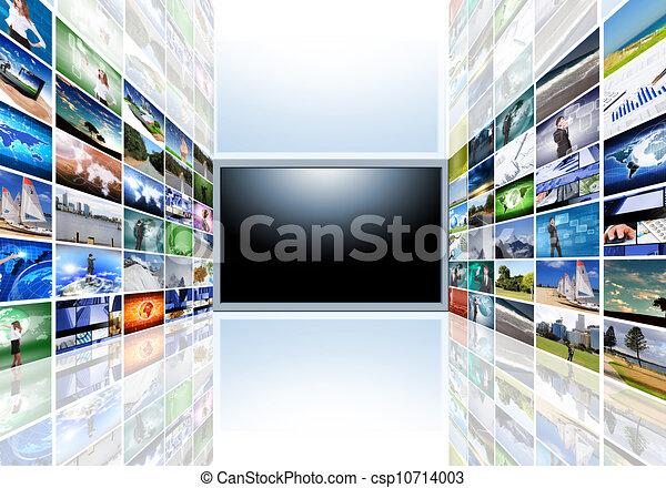Un televisor de pantalla plana - csp10714003