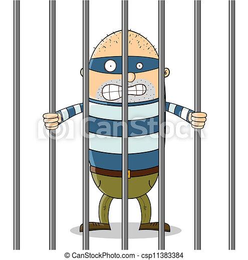 Un tipo malo en la cárcel - csp11383384