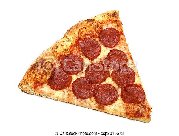 Un trozo de pizza - csp2015673