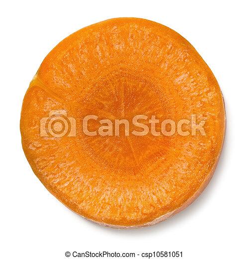 Un trozo de zanahoria aislado - csp10581051