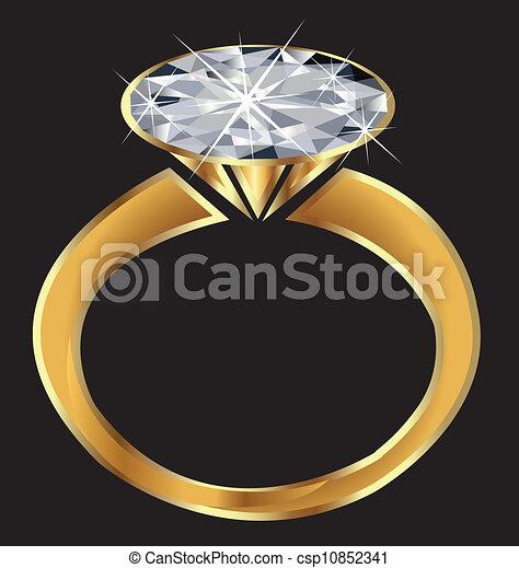 Un vector de anillos de diamantes - csp10852341