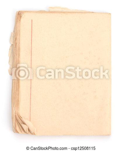 Un viejo fondo de papel grunge - csp12508115