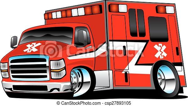 Una ambulancia paramédica roja - csp27893105