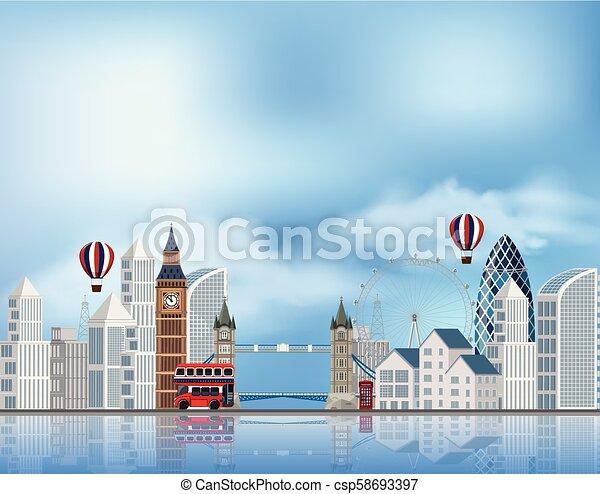 Una atracción turística en Londres - csp58693397