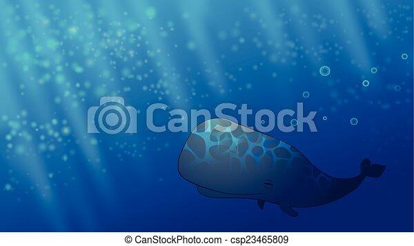 Una ballena feliz - csp23465809