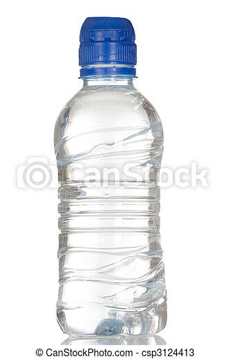 Una botella de plástico llena de agua - csp3124413