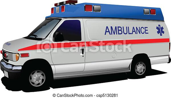 Una camioneta de ambulancias sobre blanco. C - csp5130281