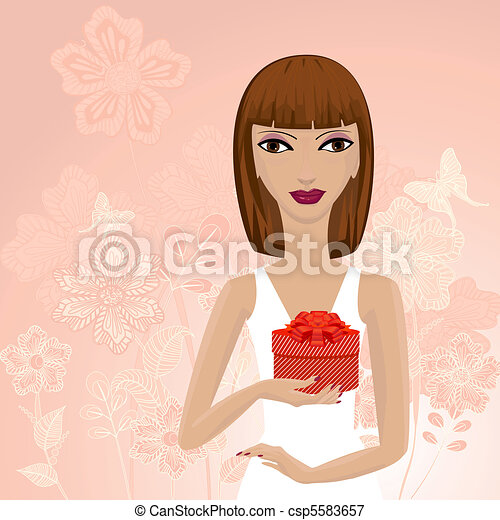 Una chica con un don - csp5583657
