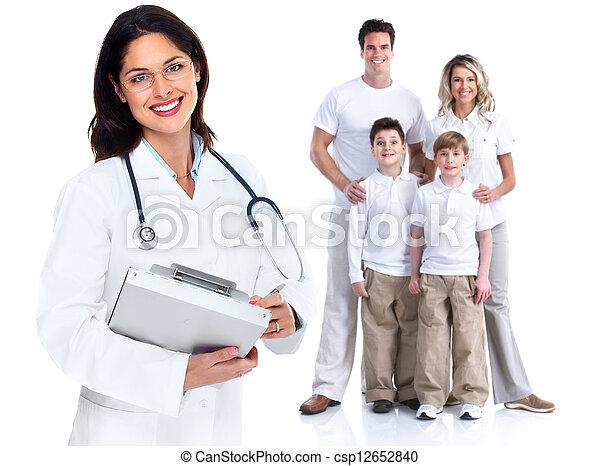 Una doctora de familia. Salud. - csp12652840