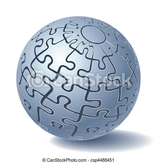 Una esfera de rompecabezas - csp4488451