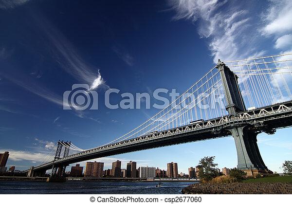 Una foto de un puente de Nueva York - csp2677060