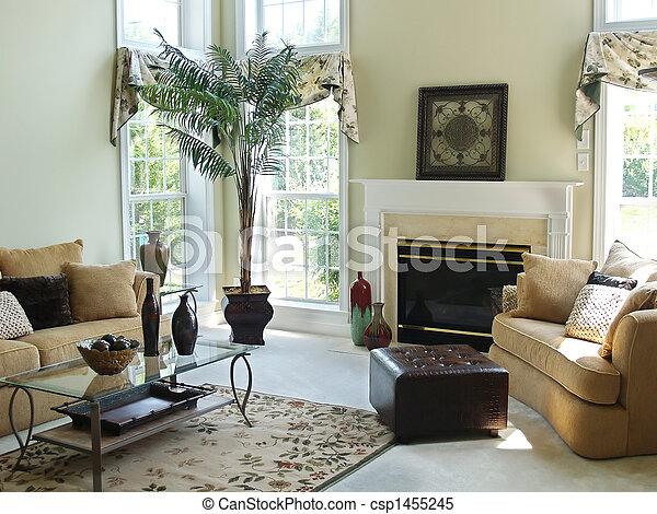 Una habitación familiar cómoda - csp1455245