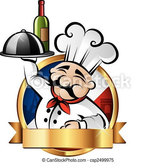 Una ilustración alegre del chef - csp2499975