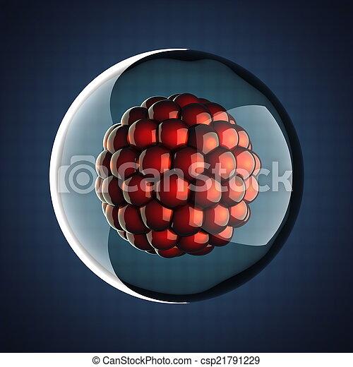 Una ilustración científica de micro células - csp21791229