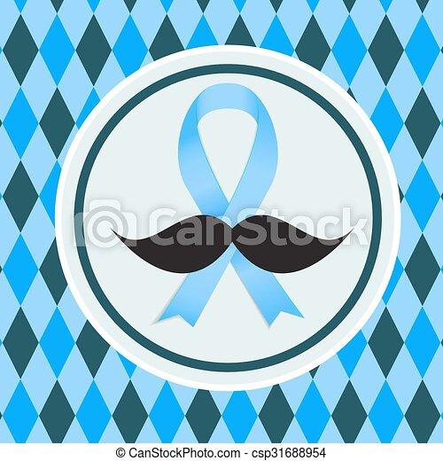 Una ilustración de la próstata del vector azul de la cinta azul - csp31688954