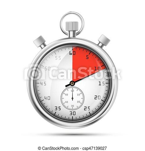 Una imagen realista de un cronómetro deportivo. Competencia de símbolos. Icon - csp47139027