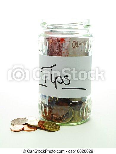 Una jarra de propina - csp10820029