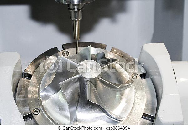 Una máquina de Cnc - csp3864394