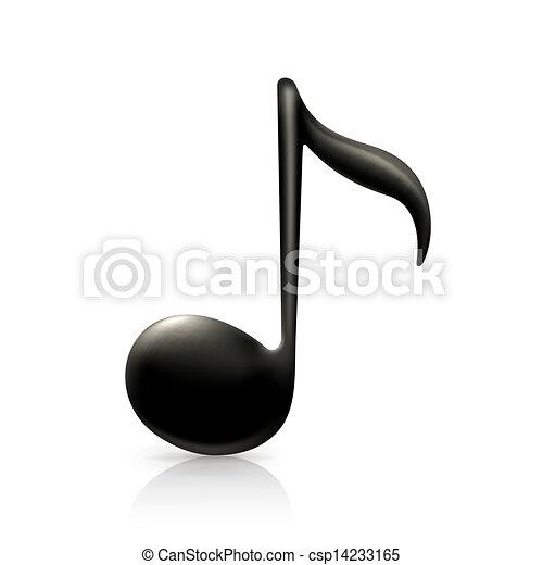 Una nota musical - csp14233165