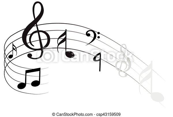 Una nota musical - csp43159509