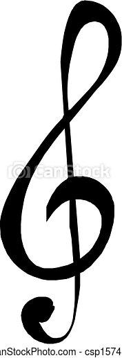 Una nota musical - csp15741142