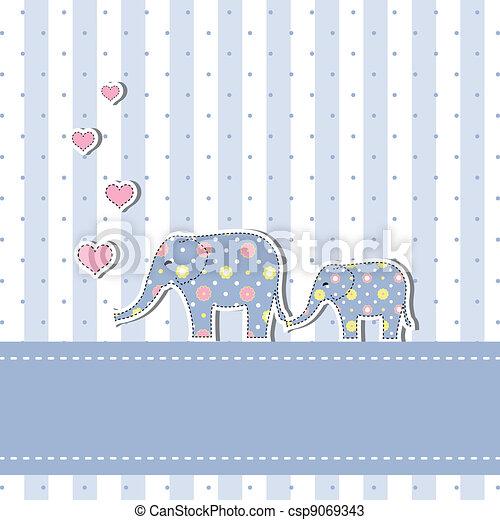 Una nueva tarjeta de invitación a la ducha de bebés - csp9069343