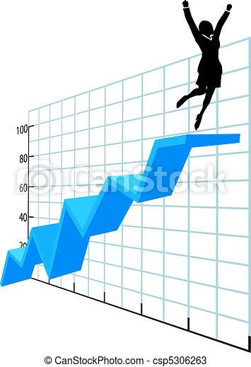 Una persona de negocios en el historial de éxito de la empresa - csp5306263