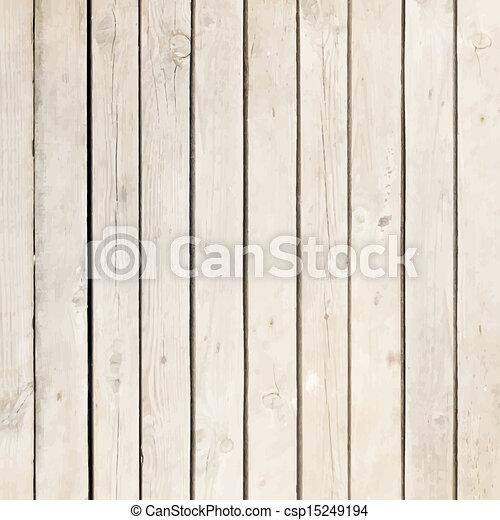 Una placa de madera blanca - csp15249194