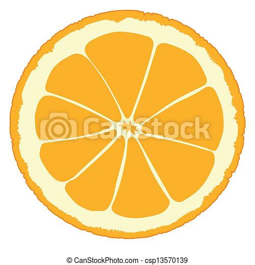 Una rebanada de naranja - csp13570139