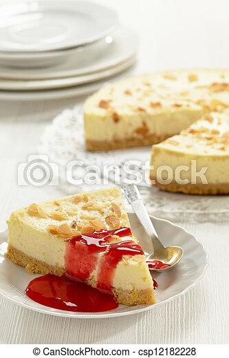 Una rebanada de pastel de queso - csp12182228