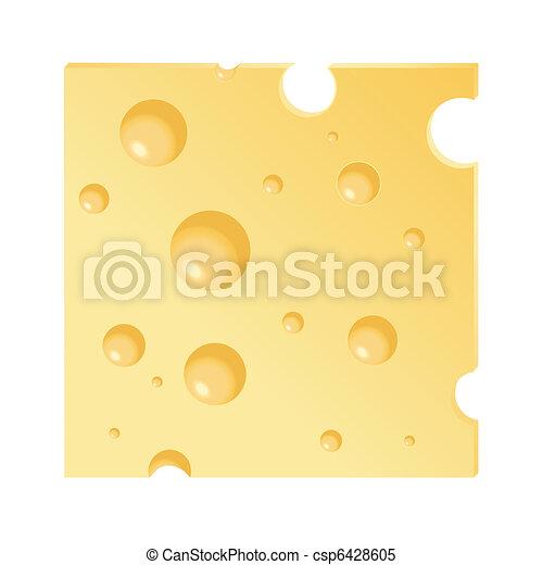 Una rebanada de queso - csp6428605
