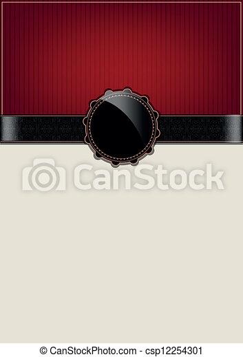 Una tarjeta de colección roja abstracta - csp12254301