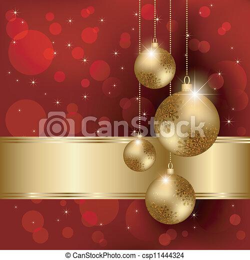 Una tarjeta de Navidad brillante - csp11444324