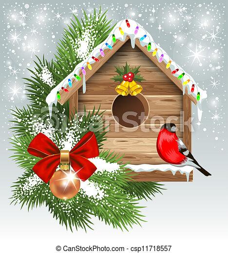 Una tarjeta de Navidad - csp11718557