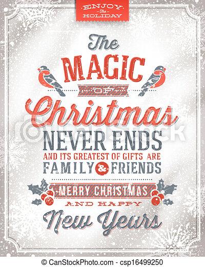 Una tarjeta de Navidad - csp16499250