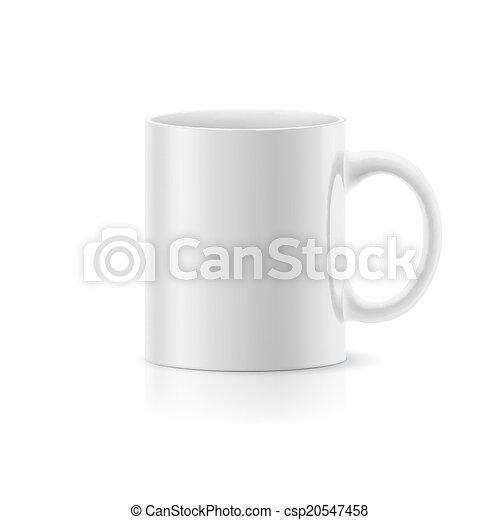 Una taza blanca en blanco - csp20547458