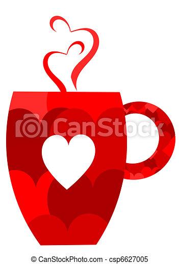 Una taza de San Valentín - csp6627005