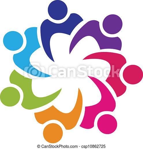 La gente del sindicato logo vector - csp10862725