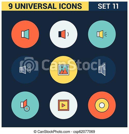 Los iconos universales marcan vector - csp62077069